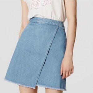 Ann Taylor LOFT Denim Wrap Skirt